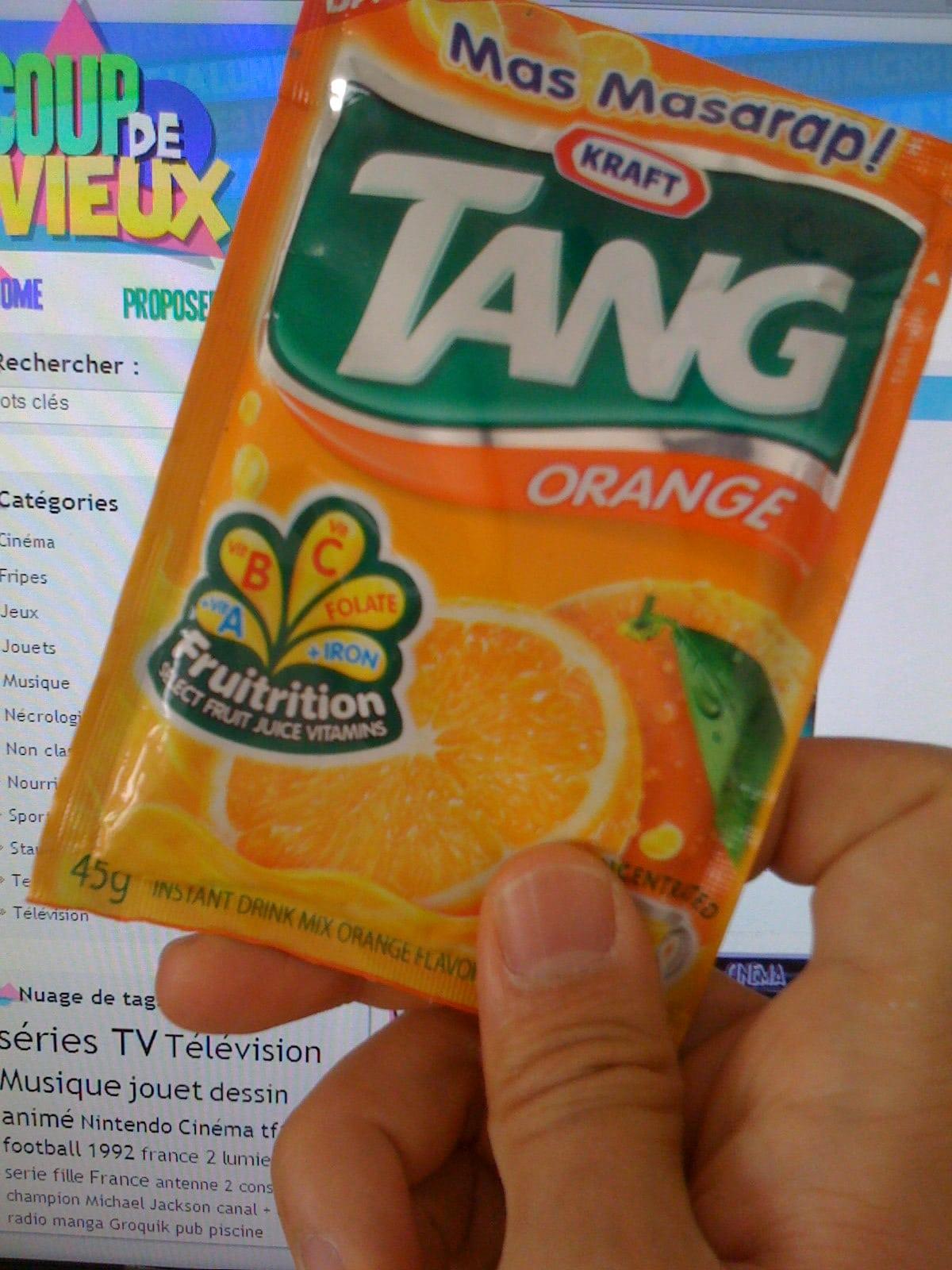 TANG, jus d'orange en poudre