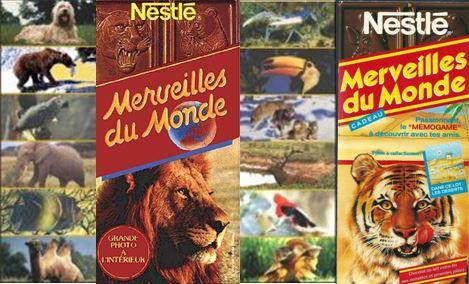 Chocolat Nestlé, les merveilles du monde