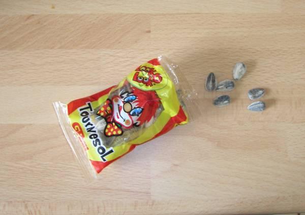 Les graines de tournesol Pipas