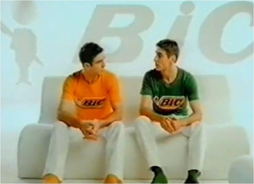 Rasoir BIC et les frères Cantona