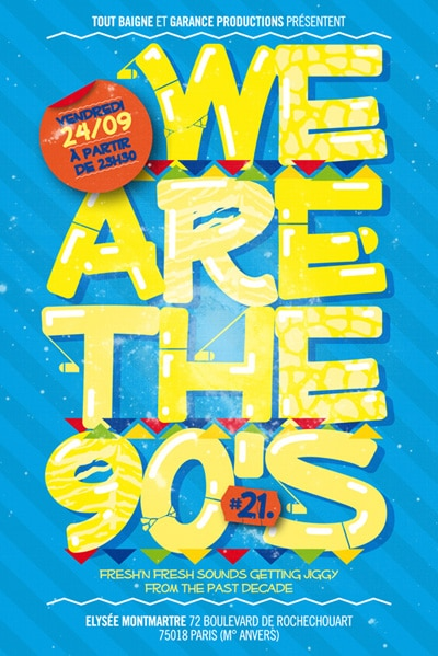 We are the 90's – Places à gagner