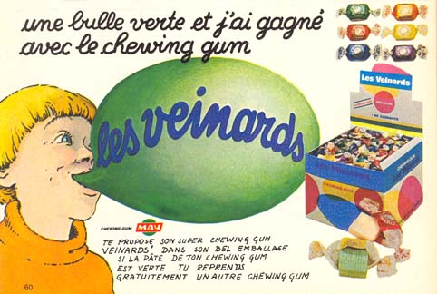 Chewing gums Les Veinards