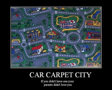 Tapis circuit de voiture